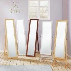 Home Wooden Full Length Cheval Mirror Oak Effect 163 10 49
