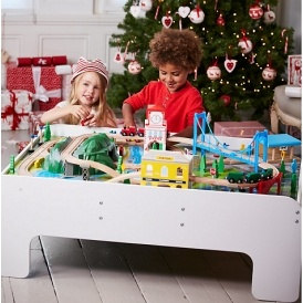 sc 1 st  Playpennies & Big City Wooden Rail Train Table £40 Delivered (was £150) @ ELC