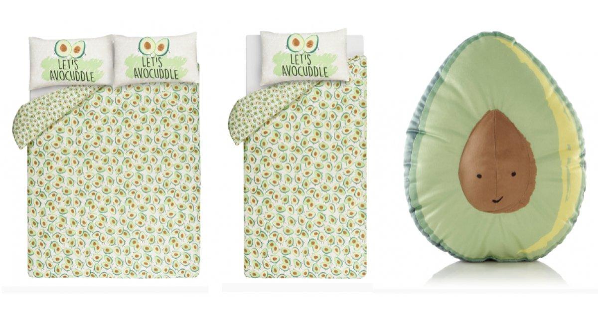 Let S Avocuddle Avocado Print Reversible Duvet Set From
