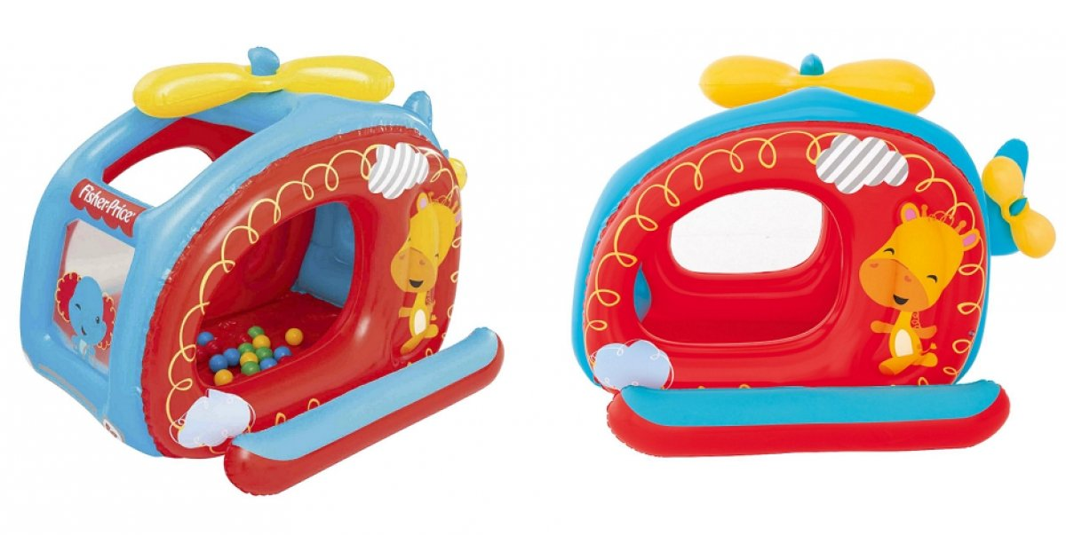 fisher price helicopter ball pit play balls 15 was 30. Black Bedroom Furniture Sets. Home Design Ideas