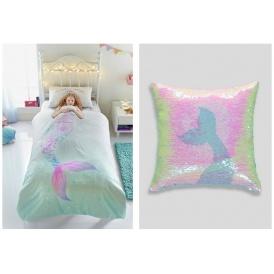 Mermaid Dress Up Duvet Set Amp Matching Sequin Cushion Matalan
