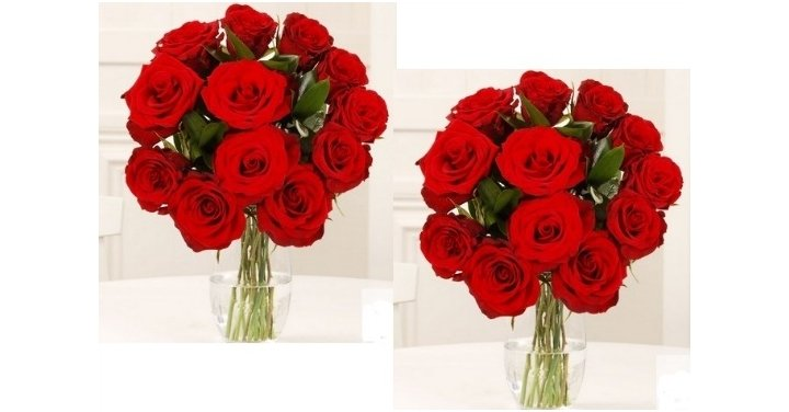 Dozen Hand Tied Red Roses Valentines Card FREE Courier – Valentines Cards Moonpig