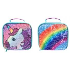 polar gear unicorn rainbow sequin swipe lunch bag 7. Black Bedroom Furniture Sets. Home Design Ideas