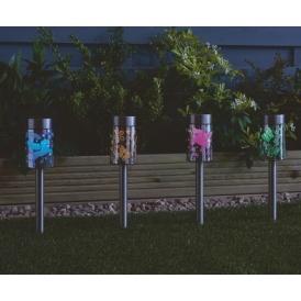 unicorn butterfly solar powered lights set of 4 10. Black Bedroom Furniture Sets. Home Design Ideas