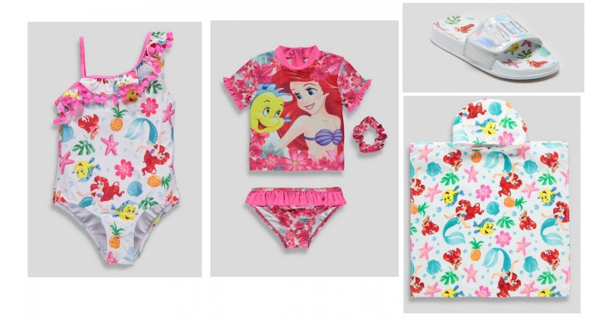Girls Disney Ariel The Little Mermaid Summer Collection
