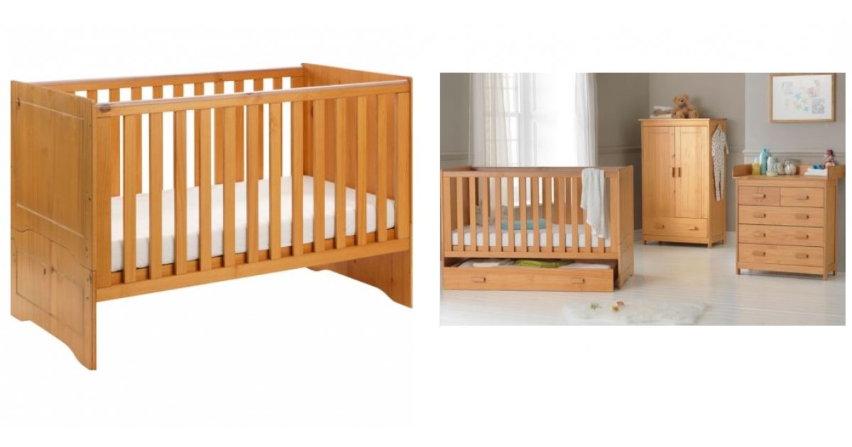 babystart cot bed delivered ebay argos. Black Bedroom Furniture Sets. Home Design Ideas