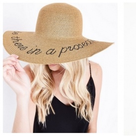 I ll Be There In A Prosecco Slogan Straw Floppy Hat £12.99   New Look 1a2fb245779