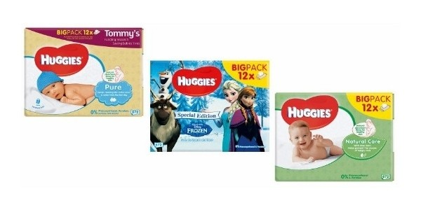Huggies Wipes 12 Pack (Pure, Natural, Frozen Limited Edition) £7 @ Asda