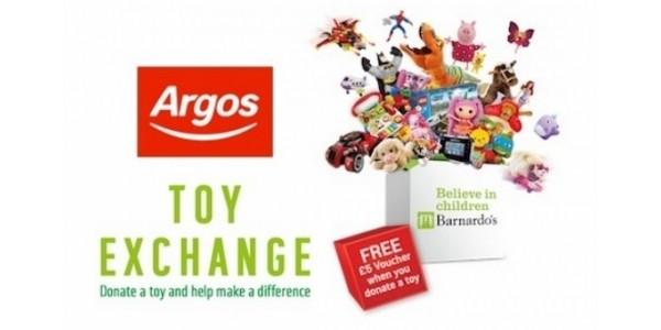 Argos/Barnardo's Toy Exchange : Donate A Toy & Get £5 Off £35 Spend Voucher