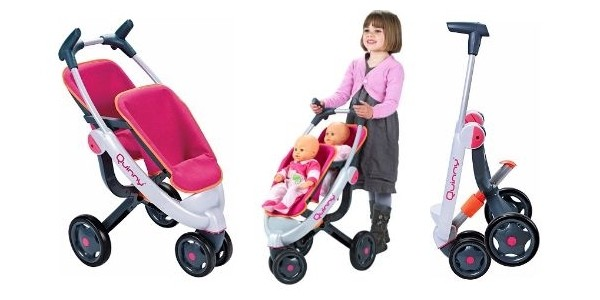 45% Off Smoby Maxi Cosi Quinny 3 Wheel Doll's Twin Pushchair Now £21.89 Delivered @ Amazon