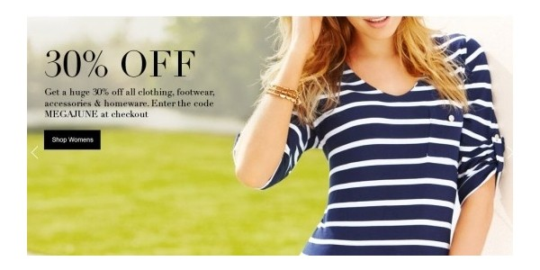 TODAY ONLY: Men & Women Clothing Footwear Accessories And Homeware 30% Off @ M&S Outlet