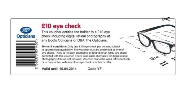 3e442290585 Eye Check £10   Boots