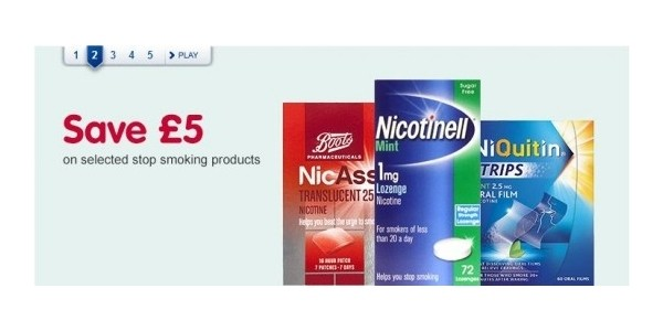 Save £5 On Selected Stop Smoking Products @ Boots