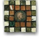 Mosaic Mad Romans Mosaic Roman Coin Mosaic Coaster