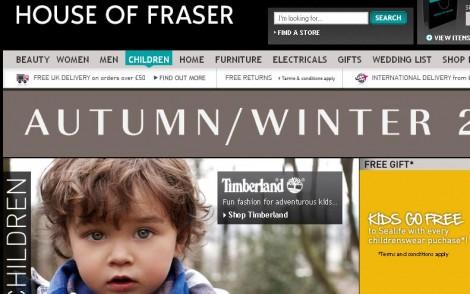 House of Fraser Online Shopping