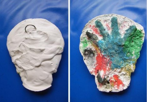 Christmas crafts plaster cast