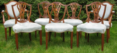 Old Colony shield back dining chairs 033A