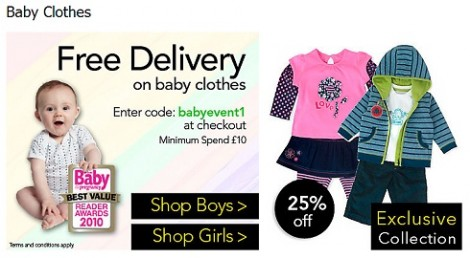 Asda Direct Baby Clothes Free Delivery