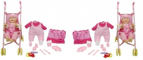 New Born Baby Deluxe Set with Stroller