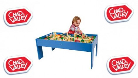 Chad Valley Wooden Table and 80-Piece Train Set £29.99 @ Argos