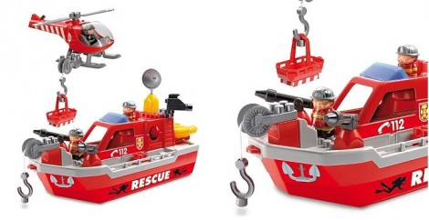 Ecoiffier Fire Rescue Ship Debenhams