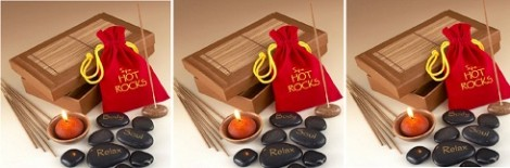 Find Me A Gift Hot Rocks Gift Set With Candle And Incense