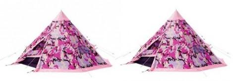 Argos Pink Camo Teepee