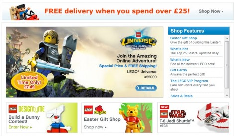 Lego online shop promotional code
