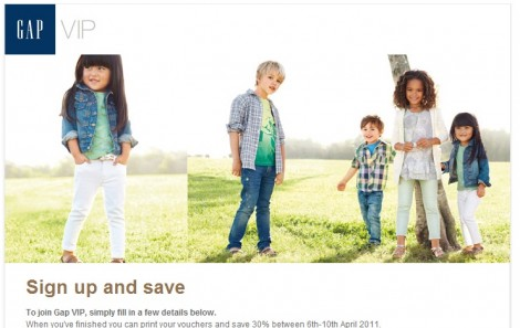 The Gap Instore Coupon