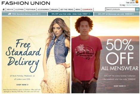 Fashion Union Promotional Code