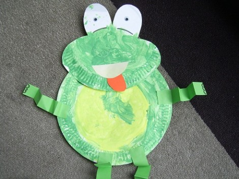 Paper Plate Frog
