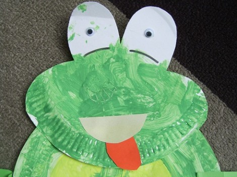 Paper Plate Frog Head