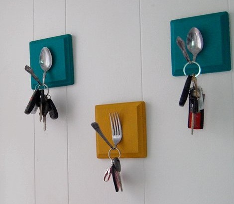 What to do with father's day cutlery key rack