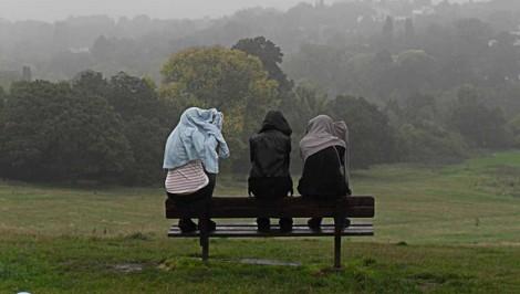 Rainy day outside