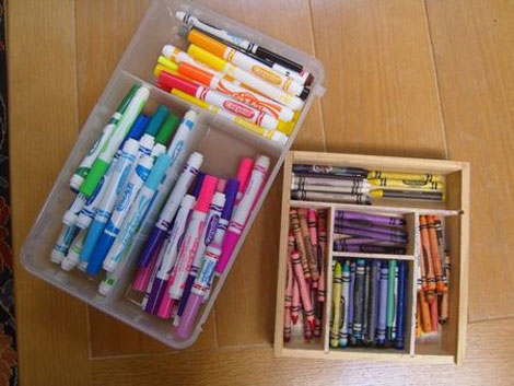 organise crayons pens and pencils. Black Bedroom Furniture Sets. Home Design Ideas
