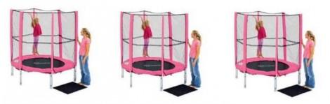 Argos pink trampoline