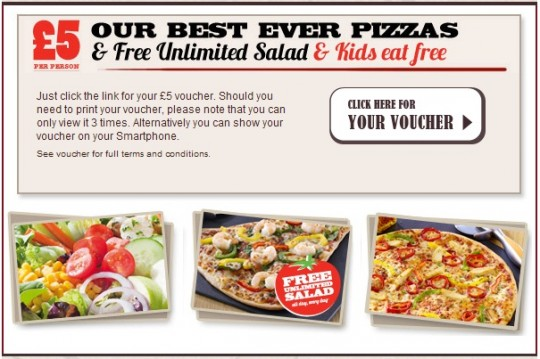 Valid only for Dine in at participating Pizza Hut Restaurants. Excludes Buffet, Sunday Buffet, Kids Birthday Parties, Drinks, and all other vouchers, discounts and promotions. Valid for tables of up to 4 people. Products subject to availability. Photography for illustrative purposes only.