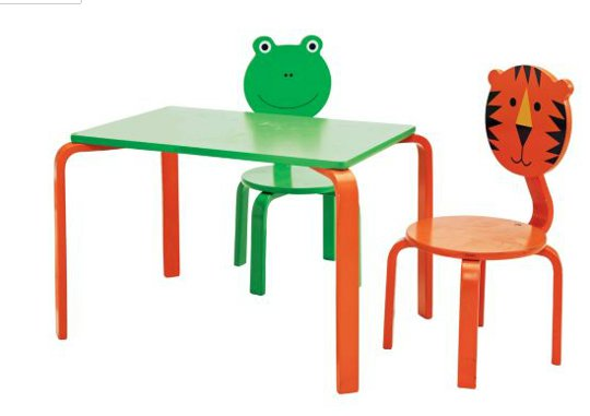 children s table chairs and height chart argos