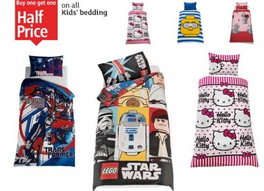 separation shoes ca8b0 91492 Buy One Get One Half Price On All Children's Bedding @ Argos