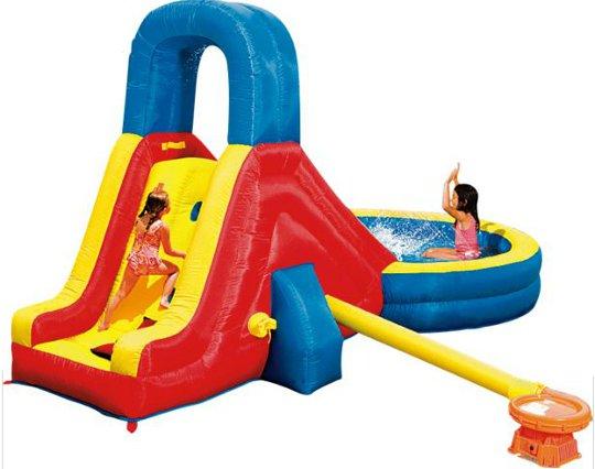 Splash Blast Inflatable Lagoon Slide And Paddling Pool 163 99