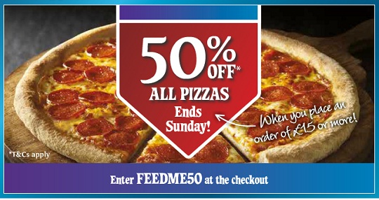 Save up to 50% with these current Dominos coupons for December The latest softmyconro.ga coupon codes at CouponFollow. Save 50% Off. Hungry? Get 50% off when you spend £40 with code 🍕And don't forget, C17 Show Coupon Code. Shared by @BCUSU. BUY. 1 GET 1.