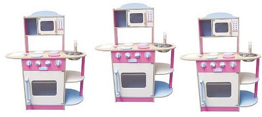 wooden play kitchen 35 asda direct. Black Bedroom Furniture Sets. Home Design Ideas