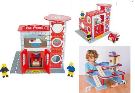 Chad Valley Wooden Fire Station And Garage Playset 1299 At Argos