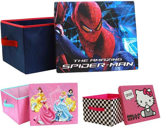 Hello Kitty, Disney Princess And Spiderman Storage Boxes £5 @ Asda Direct