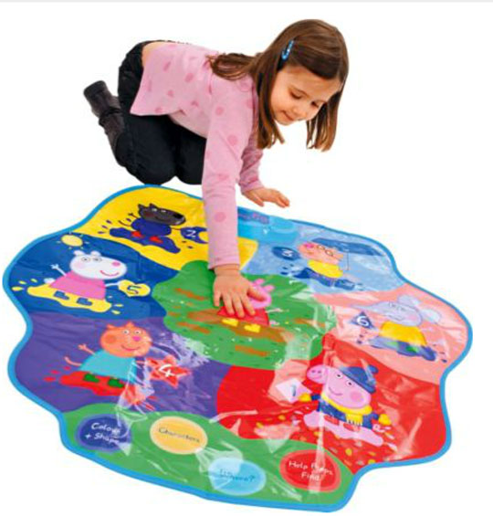 interactive peppa pig muddy puddles play mat argos. Black Bedroom Furniture Sets. Home Design Ideas