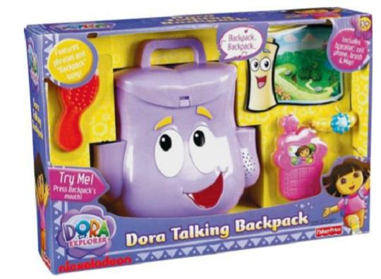 Dora The Explorer Toys : Dora the explorer talking backpack toy for £ argos