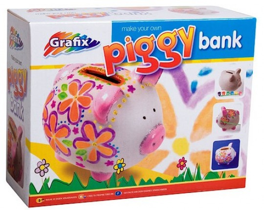 Grafix make your own piggy bank review for Create your own piggy bank