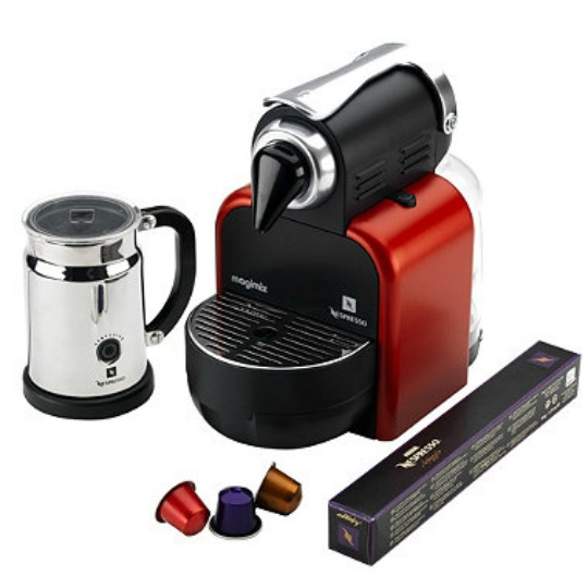 nespresso magimix m100 manual coffee machine in glam red magimix spares. Black Bedroom Furniture Sets. Home Design Ideas