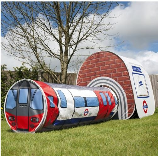 For the next five days or while stocks last Little Bird are selling a really cool looking London Underground Tube Station pop up tent and tunnel train for ... & London Underground Tube Station Tent for Kids £25.50 @ Little Bird