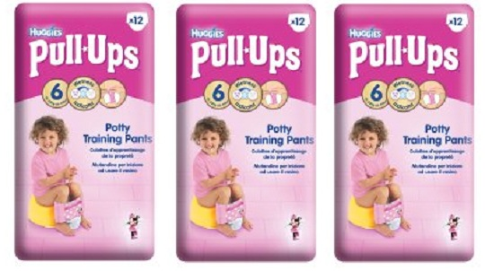 7655cef2b590a Tesco is offering two of these 12-pack Huggies Size 6 Pull Ups for girls  for just £7! Normally £5.48 each